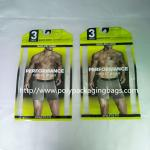 Thick PE Underwear Resealable Plastic Bags , Clothing Store Sticky Bone Foil Zip Lock Bags