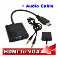 Wholesale HDMI to VGA with Audio Cable M/F 1080p HDMI to VGA Converter for Xbox 360 PS3