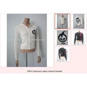 China cashmere intarsia sweater on sale