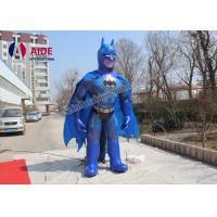 5M High Batman Inflatable Cartoon Characters With Blower For Trede Show Advertising