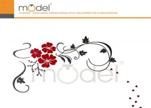 China Flower Pattern Acrylic Removable Wall Stickers For Home Decoration on sale