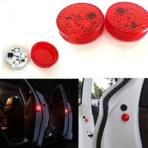 China Car Door Warning Light with Red Strobe Flashing Led Open Safety Lights Reflecto LED Lamps Magnetic Waterproof Wireless on sale