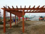Weather Resistant Garden Pagoda Kits , Cedar Pergola Kits Split Resistance