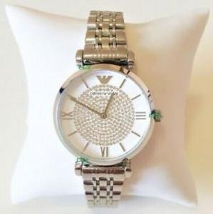 China Wholesale Emporio Armani Women New Watch Silver White Dial Genuine Retro Classic AR1925 AR1926 on sale