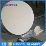 1m small ku band automatic tracking carbon fiber satellite dish antenna