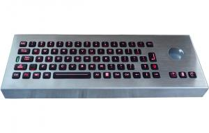 China military backlight pc keyboards with trackball , desk top keyboard on sale