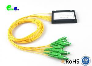 China Optical Fiber Plc Splitter Splice / Pigtailed ABS Module 1x8 2.0mm SC / APC Singlemode Long Lifespan on sale