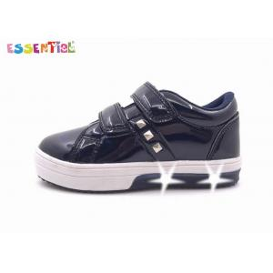 China Classic Girls LED Light Up Shoes Patent TPU Upper Buckle Straps Style on sale