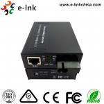 China Single Fiber Optic Media Converter , Ethernet Fiber Media Converter 48VDC Power Input wholesale
