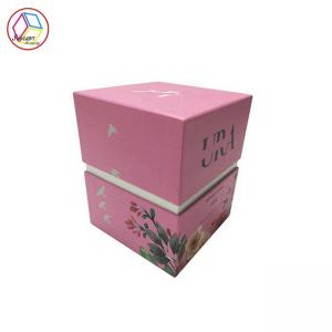 China Eco Friendly Cardboard Candle Boxes / Candle Package Box Spring Color on sale
