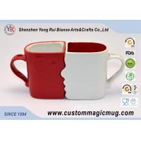 Eco Friendly Mugs Handle Mug Couples Coffee Mugs Lover Cup DIY Available Red White