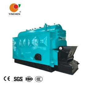 China Coal Biomass Fuel Horizontal Steam Boiler Blue With Automatic Slag Machine on sale