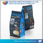 250g/500g/1000g custom priting side gusset flat bottom coffee packaging bag with pouch