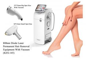China 2400w Salon Laser Hair Removal Machine Painless Treatment Stationary Style on sale
