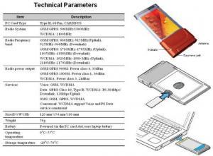 China China WCDMA PCMCIA CARD on sale