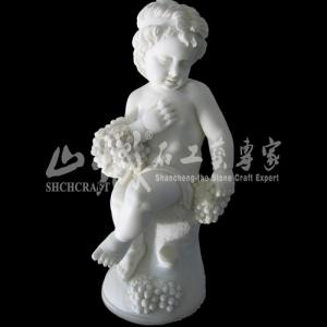 China Natural Stone(Marble) Cute Kids Statue/Sculpture on sale