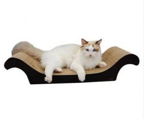 China Recycled Corrugated Cat Scratcher , Neutral Colors Vertical Cat Scratcher on sale