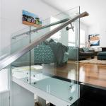 304 Stainless Steel Standoff Tempered Glass Balcony Railing Design