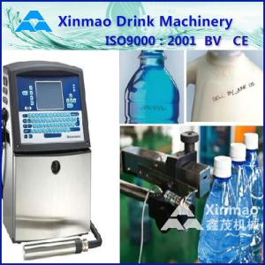 China Water / Beverage Packaging Machine , Inkjet Coding Machine For Plastic Bottle on sale