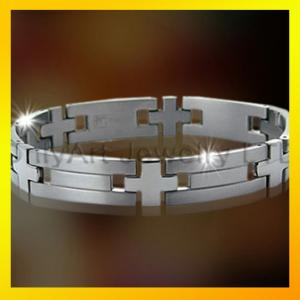 China hot selling stainless steel or titanium bracelet for men on sale