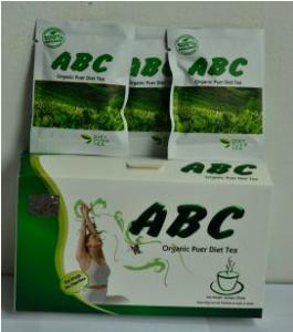 Quality ABC Organic Puer Diet Tea, Safe Weight Loss Tea Slimming Tea for sale