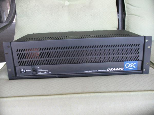qsc model usa 400 professional 400 watt 2 channel power amplifier rh marketstoreltd sell everychina com