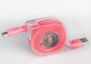 China 1m Flexible Retractable Micro USB Cable With ABS Case For Android Cell Phone on sale