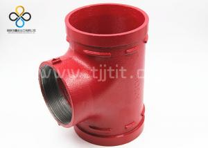 China CCC CE FM UL Good quality Threaded Reducing Tee Ductile iron grooved fittings on sale