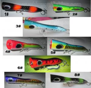 China 12cm/7g 18cm/105g  24cm/140g high quality  hand made wooden popper fishing hard lure /popper fishing bait/trolling lure on sale