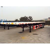 30 T 40 Feet FlatBed Semi Trailer For  ISO Container , Flatbed Car Trailer 2 Axles