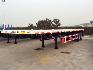China 30 T 40 Feet FlatBed Semi Trailer For  ISO Container , Flatbed Car Trailer 2 Axles on sale