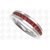 Red CZ Perfect Wedding Diamond Rings Shiny and Matte Finish