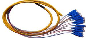 China UPC SC Fiber Optic Cable Multimode , 12 Core Pigtail Cable High Credibility on sale