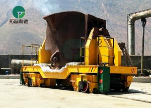 China 5-25 Ton Large Capacity Anti-Heat Hot Metal Ladle Cart for Steel Making Plant on sale