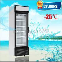 One Door Small Glass Door Freezer -25 Degree Dynamic Cooling Eco Friendly