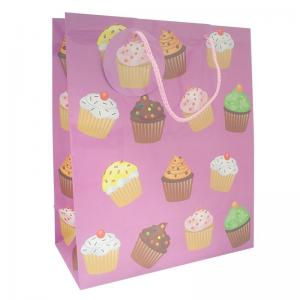 China White Custom Printed Paper Gift Bags With Twisted Handles For Christmas Gift on sale