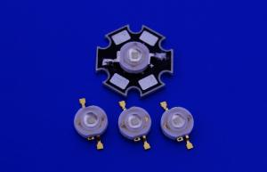 China 1W 120 degree Green Color High Power Led Diodes 520nm - 530nm , 400ma on sale