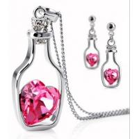Colrful Drift bottles of Crystal Jewelry Accessories Earrings Necklace