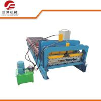 1000 Model Step Roofing Tiles Roll Forming Machine Fully Automatic Blue Color