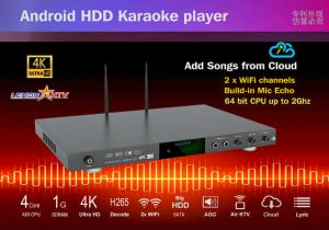 China New android system home ktv karaoke machine with vietnamese songs cloud,build in Mic-Echo-in on sale