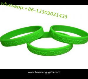China Custom Design Printed Logo Soft Silicone Wristband / Wholesale DIY Gift Silicone Bracelet on sale