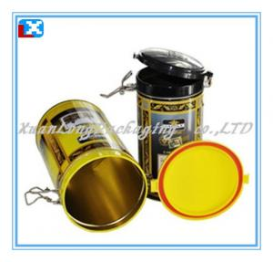 China Air Tight Round Tea Tin Box with Plastics Lid/XL-40211 on sale