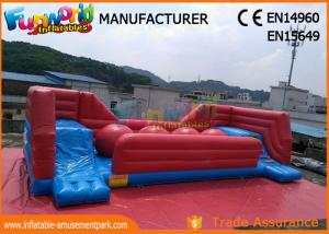 China Commercial 0.55 MM PVC Tarpaulin Inflatable Obstacle Course With Slide on sale