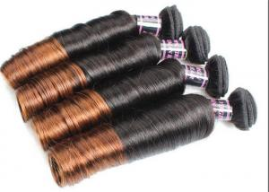 China Colored Ombre Indian Human Hair Weave Egg Curl No Any Bad Smell on sale