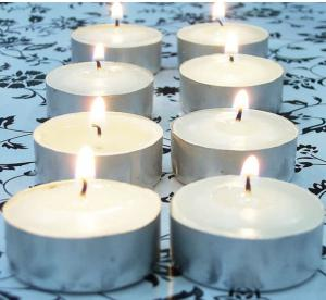 China beautiful white mini tealight candle on sale