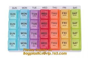 China week pill box 7 day Medicine Pill box for health care,Customized logo Hot sales colorful plastic pill box,7 day pill box on sale