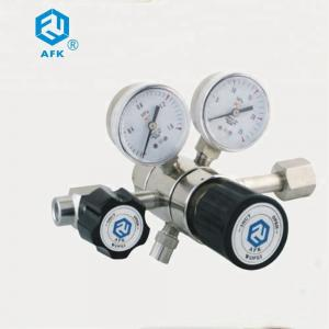 China CGA 330 Dual Stage CO2 Gas Pressure Regulator High Pressure With  Filter Inside on sale