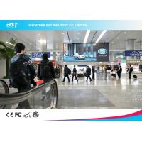Aluminum Alloy / Steel Giant P4 SMD2121 indoor Advertising LED Screen For Airport