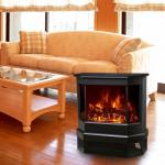 Fireplace Heater 3 Sided Freestanding Electric Stove EF330 Log flame effect comfortable warm room heater