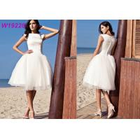 China A Line Cap Sleeve Short Female Wedding Dress For Beautiful Girls Floor - Length on sale